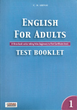 English For Adults Test Booklet 1