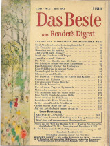Das Beste aus Readers Digest May 1973 Nr. 5