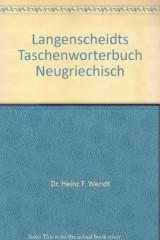 Langenscheidts Taschenworterbuch Neugriechisch