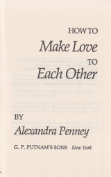 How to Make Love to Each Other