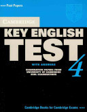Cambridge Key English Test 4 Student's Book with Answers