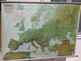 Γεωφυσικος χαρτης διπλης οψης Ευρωπη